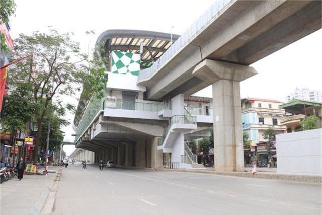 Nhiều chi tiết nhà ga tàu điện Cát Linh - Hà Đông đã hư hỏng - 1