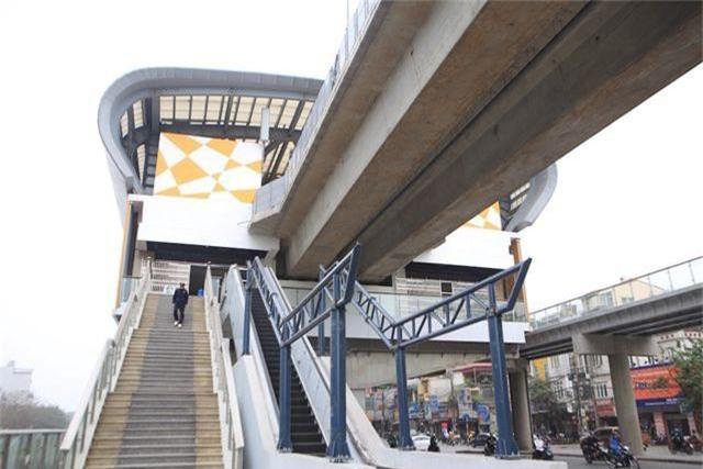 Nhà ga tàu điện Cát Linh - Hà Đông bóng loáng trước ngày vận hành - 11