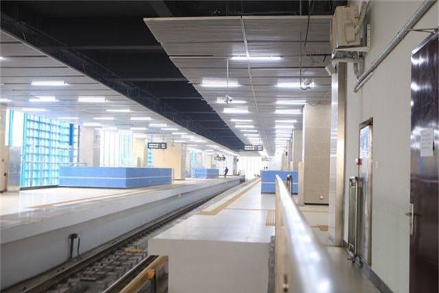 Nhà ga tàu điện Cát Linh - Hà Đông bóng loáng trước ngày vận hành - 5