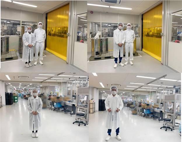2 vị CEO của Tatu Group tự hào khi là công ty mỹ phẩm đầu tiên  được mời tham quan khu nhà máy sản xuất hiện đại tại Nhật Bản