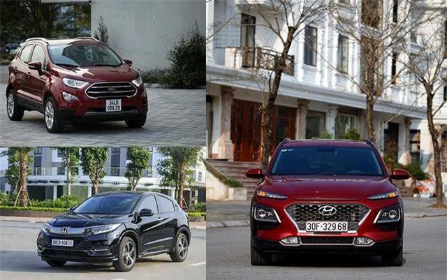 Cùng phân khúc, chọn Ford EcoSport, Honda HR-V hay Hyundai Kona?