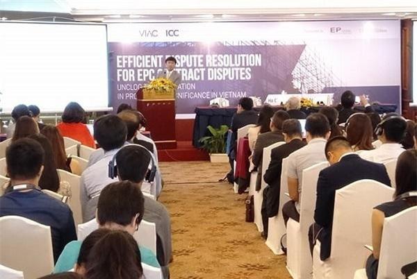 Hội thảo giải quyết các tranh chấp hợp đồng tổng thầu EPC (Ảnh: AD)