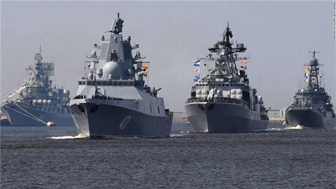 Soi 4 tau chien NATO vua vao bien Baltic da bi Nga
