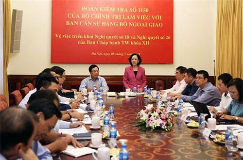 Hình ảnh tại buổi làm việc. Ảnh: VGP/Hải Minh.