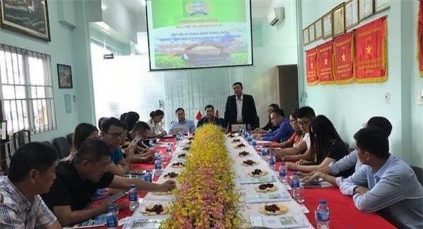 ác DN Trung Quốc cùng ban ngành công thương Việt Nam làm việc với DN xuất nhập khẩu gạo Long An.