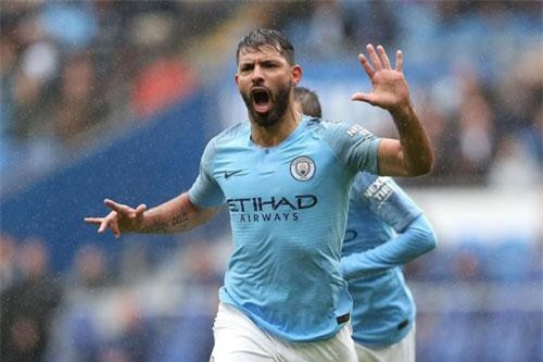 6. Sergio Aguero (Man City).