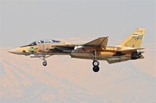F-14 được trang bị cặp động cơ tuốc bin phản lực cánh quạt đẩy TF30 (hoặc còn gọi là JT10A) cung cấp lực đẩy tổng thể đến 93kN/chiếc, cho phép máy bay đạt tốc độ tối đa Mach 2,34 tức 2.485km/h ở trần bay cao, bán kính chiến đấu 926km, trần bay 15,2km, vận tốc leo cao 229m/s.