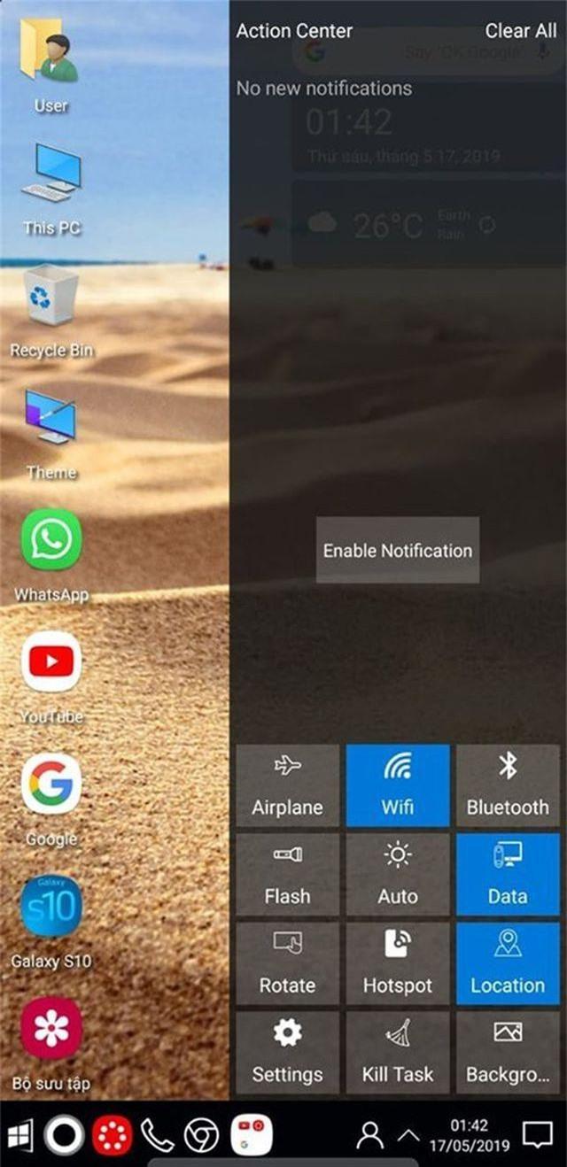 """Mẹo hay giúp """"lột xác"""" smartphone thành máy tính chạy Windows 10 - 8"""