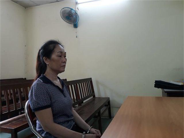 Bị cáo Dung tại phiên tòa.