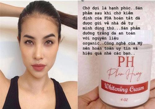 """Phạm Hương """"khoe"""" hình ảnh lọ kem mang tên mình, rục rịch kinh doanh nhưng lại bị vạch trần loạt chi tiết khó hiểu"""