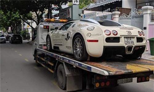 Bugatti Veyron cua Dang Le Nguyen Vu tai xuat tren pho Viet