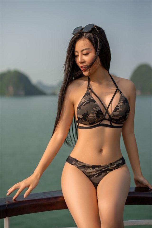 Lan Cave Thanh Hương khoe body nóng bỏng, siêu vòng 3 với bikini - 12