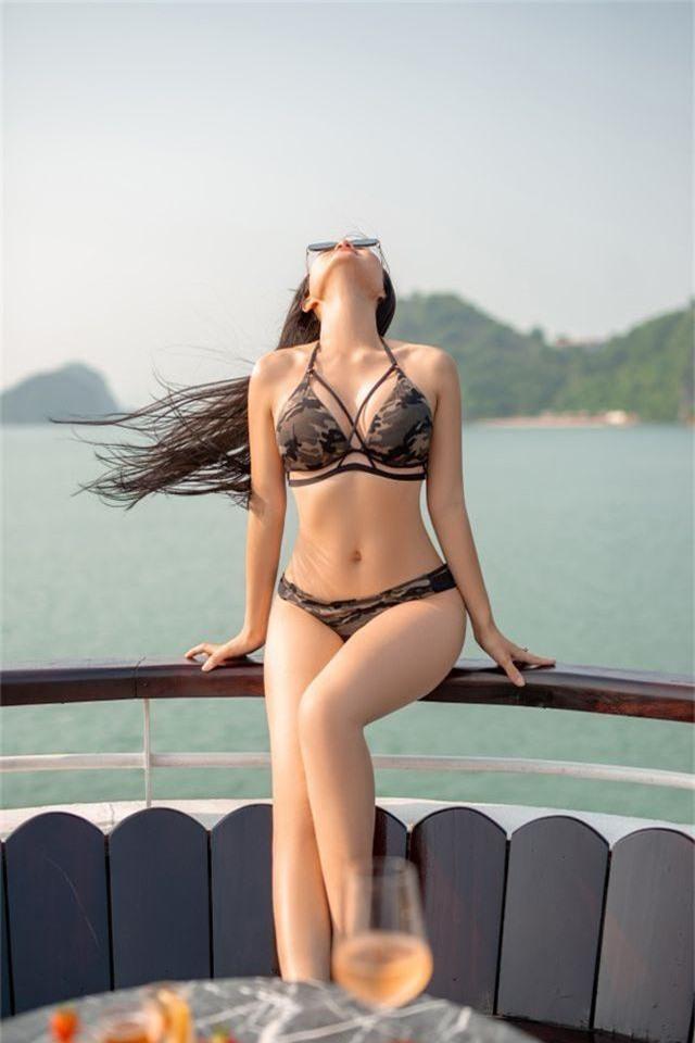 Lan Cave Thanh Hương khoe body nóng bỏng, siêu vòng 3 với bikini - 6