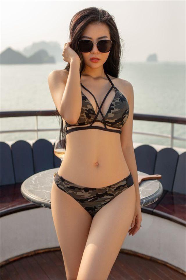Lan Cave Thanh Hương khoe body nóng bỏng, siêu vòng 3 với bikini - 9