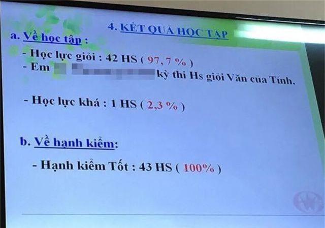 """Vụ lớp có 42/43 học sinh giỏi: Phòng Giáo dục khẳng định không tồn tại """"bệnh thành tích"""" - 1"""