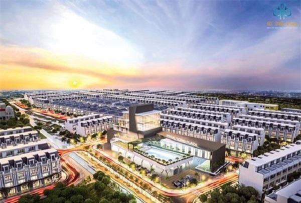 Dự án KDC cao cấp Phúc Long - D'Villa Centa, quy mô 9,5ha tọa lạc tại trung tâm TP Tân An đang dần hình thành.