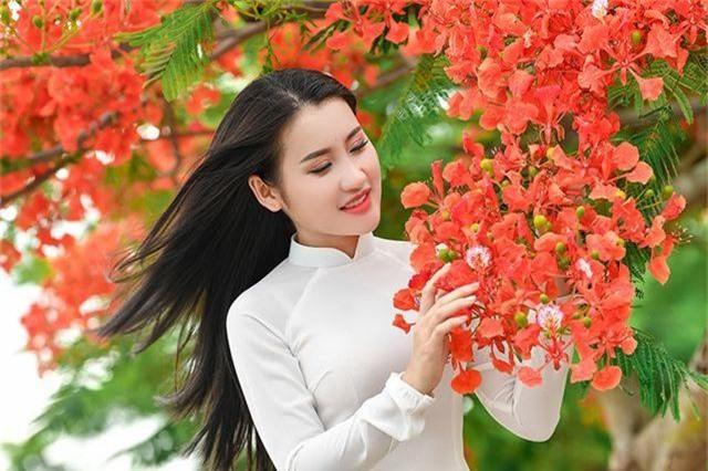 Cô gái xinh đẹp thả hồn trên con đường hoa phượng đỏ Hải Phòng - 15