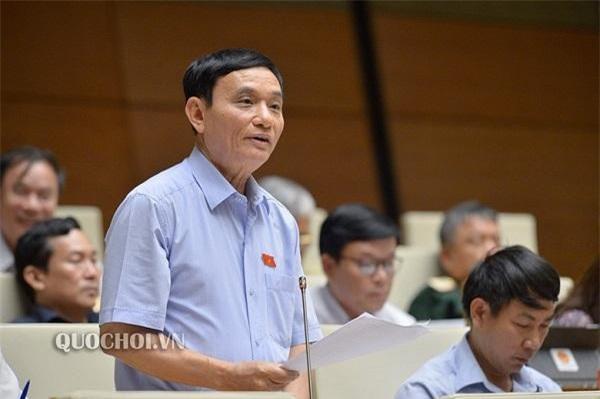 Đại biểu Bùi Quốc Phòng, Đoàn ĐBQH tỉnh Thái Bình phát biểu. (Ảnh: VPQH)