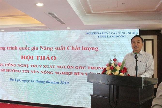 Ông Trần Văn Vinh, Tổng cục trưởng Tổng cục Đo lường chất lượng, phát biểu khai mạc Hội thảo khoa học (Ảnh: VH)