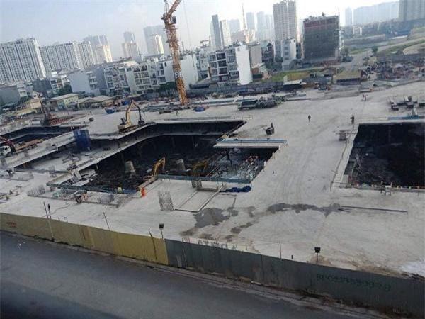 Dự án chưa được cấp phép xây dựng nhưng nhiều phân khu đã xây gần xong các tầng hầm