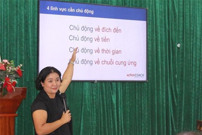 Buổi đào tạo, chia sẻ kinh nghiệm quản trị doanh nghiệp bổ ích của nhà huấn luyện doanh nghiệp Nguyễn Thị Thu Hiền (Ảnh: VH)