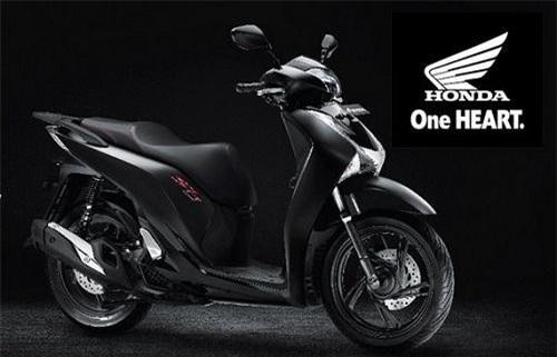 Honda SH150i màu đen huyền bí.