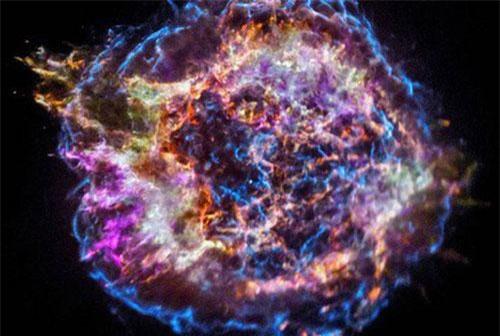 Một siêu tân tinh sinh ra từ cái chết của một ngôi sao - ảnh: NASA