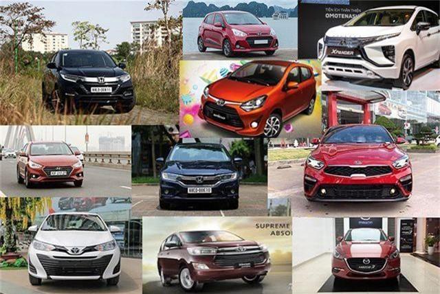 Một số mẫu xe phổ biến tại Việt Nam.