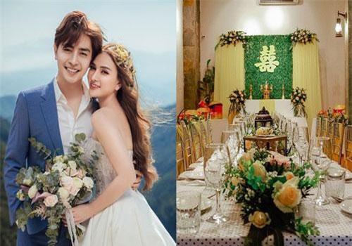 Cận cảnh không gian hôn lễ ngọt ngào, ấm cúng của Thu Thủy và chồng điển trai