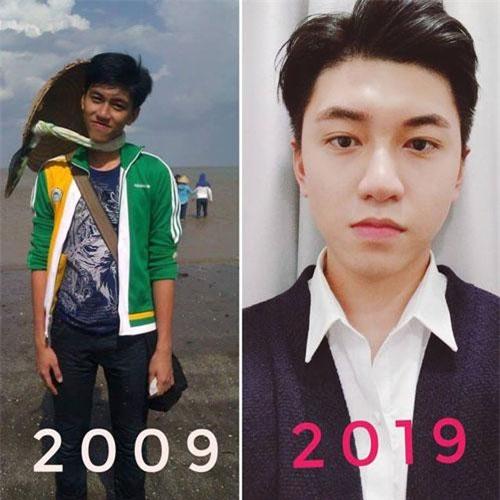 Hình ảnh Sỹ Khiêm trước và sau khi thay đổi