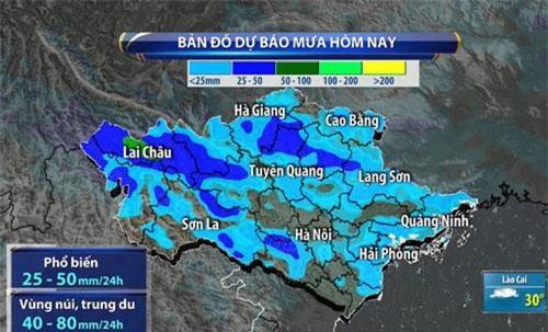 Hôm nay, nhiều nơi trên cả nước sẽ tiếp tục mưa lớn.