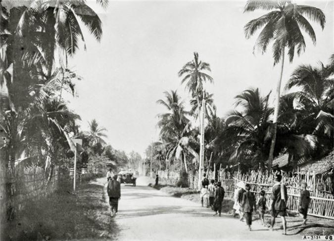 Hinh doc ve giao thong tren Quoc lo 1 thap nien 1920