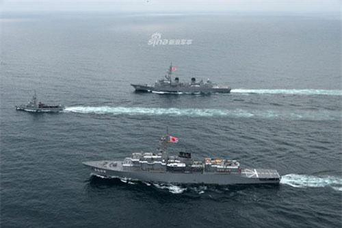 Trung tuần tháng 7 vừa rồi, Lực lượng Phòng vệ Trên biển Nhật Bản đã có chuyến hành trình vượt Đại Tây Dương tới Ecuador với hai tàu chiến bao gồm một khu trục hạm và một tàu huấn luyện. Nguồn ảnh: Sina.