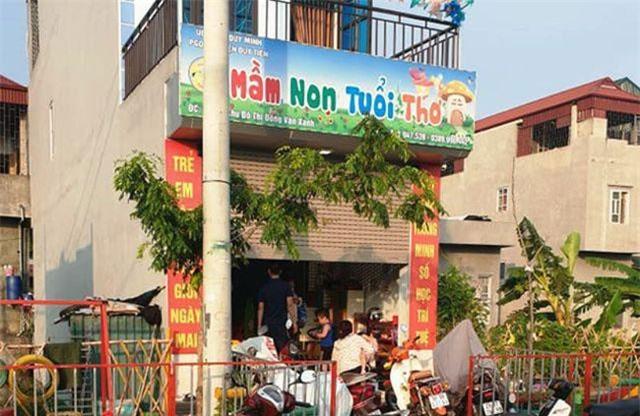 Nhóm lớp trẻ mầm non tư thục Tuổi thơ, đóng tại địa bàn xã Duy Minh, huyện Duy Tiên, nơi xảy ra sự việc. Ảnh: Dân trí.