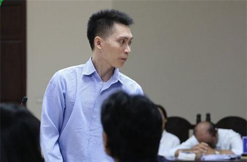 Bị cáo Nguyễn Văn Trường tại tòa. (Ảnh: Trọng Phú)