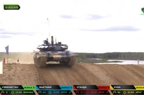 """Thế nên, chiến thắng giải nhì của Đội tuyển Xe tăng Việt Nam ở chung kết cuộc thi """"Xe tăng hành tiến bắn mục tiêu"""" là rất xuất sắc. Nguồn ảnh: Tzvezda"""