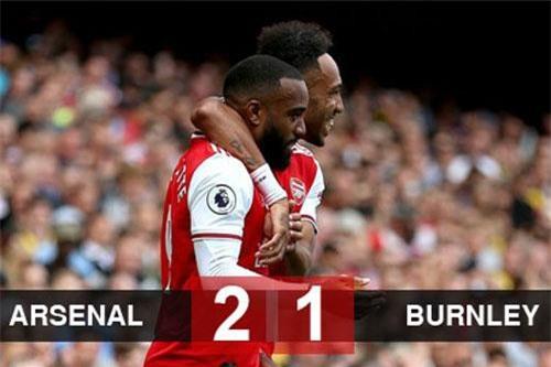 Arsenal 2-1 Burnley: Ceballos lập cú đúp kiến tạo, Arsenal tạm lên ngôi đầu bảng