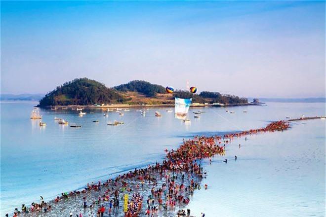Đến hẹn lại lên: Con đường giữa biển Hàn Quốc 2 năm mới xuất hiện 1 lần, kỳ bí như vậy nhưng người dân vẫn thản nhiên… ăn mừng - Ảnh 3.