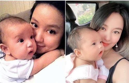 """Hot mom Mi Vân khoe ảnh chụp cùng 2 con gái khi bằng tháng nhau, quả đúng là """"tường thành nhan sắc"""" của team bỉm sữa"""