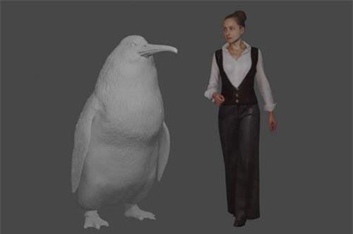 """Phát hiện hoá thạch loài chim cánh cụt """"quái vật"""" - 1 Hình ảnh phác hoạ loài chim cánh cụt cổ đại có kích thước khổng lồ."""