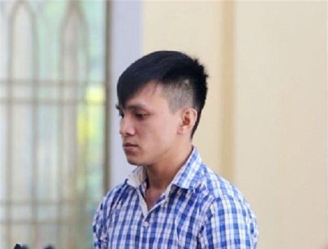 Bị cáo Huy tại phiên tòa.