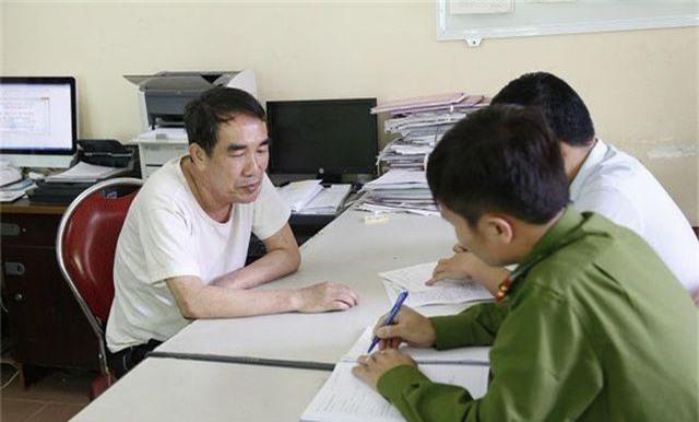 Lê Hải Châu tại cơ quan điều tra.