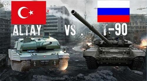 Xe tăng chiến đấu chủ lực Altay và T-90 trước nguy cơ đối đầu tại chiến trường Syria. Ảnh: Defence Blog.