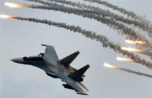 Chiến cơ Su-30SM tham gia Aviadarts 2019. (Ảnh: Sputnik)
