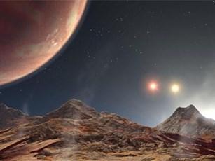LTT 1445Ab có 3 mặt trời và chỉ cách Trái Đất 22,5 năm ánh sáng. Ảnh: NASA