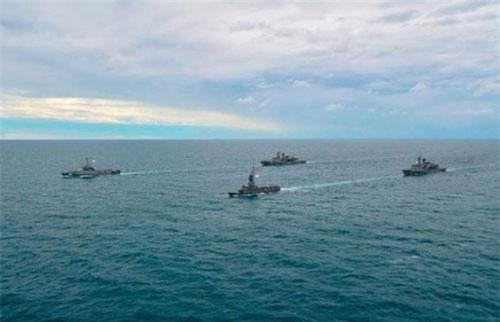 Một cuộc tập trận trên vịnh Thái Lan. (Ảnh: navaltoday)