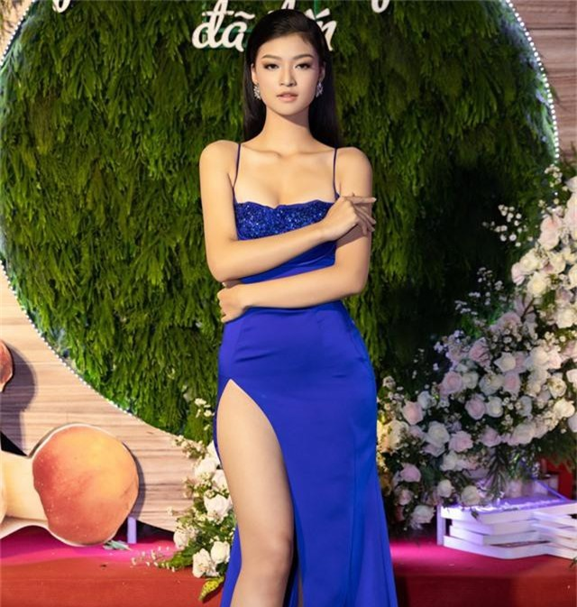 Á hậu Kiều Loan diện váy xẻ cao khoe chân dài miên man - Ảnh 2.