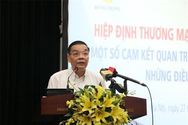 Bộ trưởng Bộ Khoa học & Công nghệ Chu Ngọc Anh phát biểu tại hội nghị. (Ảnh: VGP)