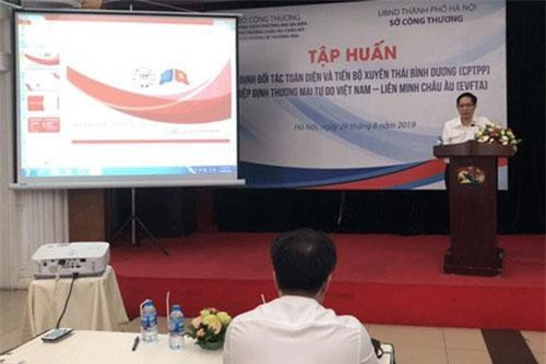 Ông Nguyễn Thanh Hải- Phó Giám đốc Sở Công Thương Hà Nội: Việc thực thi Hiệp định CPTPP và chuẩn bị để thực thi Hiệp định EVFTA khi có hiệu lực đem lại rất nhiều cơ hội cho doanh nghiệp Việt.