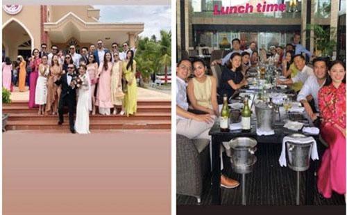 Hình ảnh chụp tại đám cưới, trong khi Loius Nguyễn tay trong tay cùng Tăng Thanh Hà thì Phillip Nguyễn được cho là sánh bước cùng nàng hotgirl The Look Linh Rin.